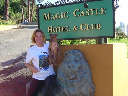 SAM's Mom and SAM at Magic Castle